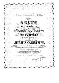 Suite in kanonischer Form, Op.10: Für Klavier, vierhändig by Julius Otto Grimm