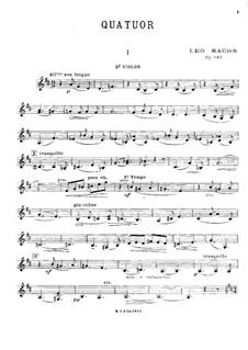 Streichquartett in D-Dur, Op.143: Violinstimme II by Léo Sachs