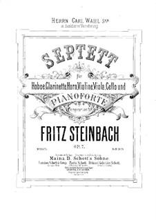 Septett für Bläser, Streicher und Klavier, Op.7: Vollpartitur by Fritz Steinbach