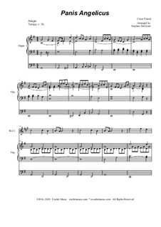 Panis angelicus: For Bb-Clarinet solo - organ accompaniment by César Franck