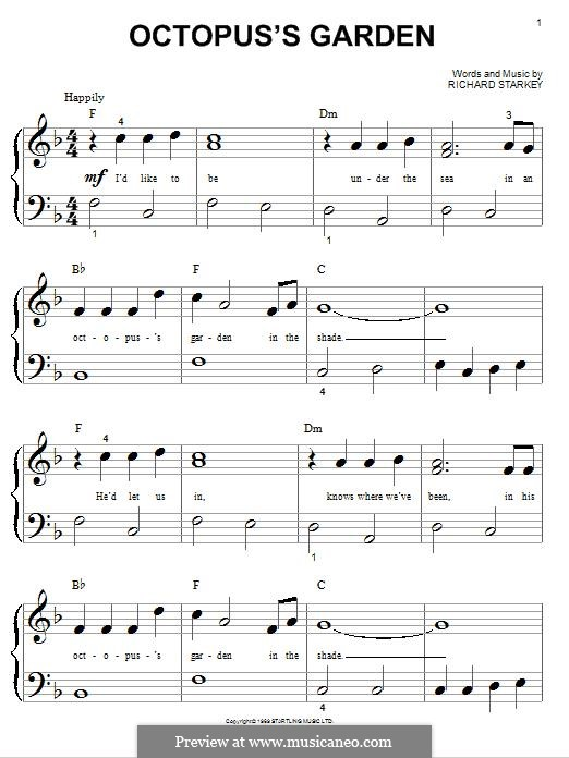 Octopus's Garden (The Beatles): Für Klavier by Ringo Starr