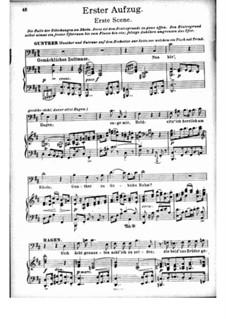 Götterdämmerung, WWV 86d: Akt I, für Stimmen und Klavier by Richard Wagner