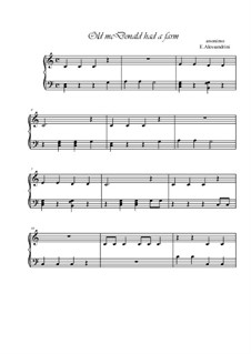 Old Mac Donald: Für Klavier by folklore