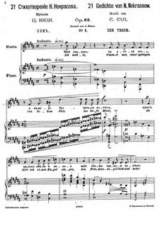 Einundzwanzig Gedichte von Nekrasov, Op.62: Nr.1 Der Traum by César Cui