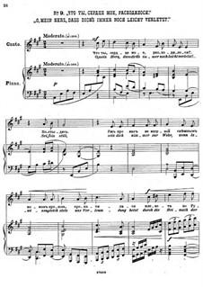 Einundzwanzig Gedichte von Nekrasov, Op.62: Nr.9 O, mein Herz, dass dich's Immer noch leicht verletzt by César Cui