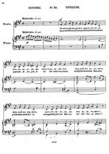 Einundzwanzig Gedichte von Nekrasov, Op.62: Nr.10 Katharina by César Cui