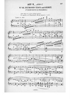 Rienzi, der Letzte der Tribunen, WWV 49: Akt V. Bearbeitung für Stimmen und Klavier by Richard Wagner