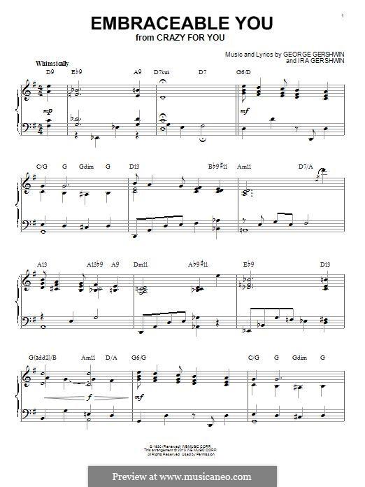 Embraceable You: Für Klavier (jazz version) by George Gershwin