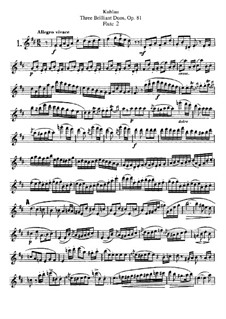 Drei brillante Duos für zwei Flöten, Op.81: Flötenstimme II by Friedrich Kuhlau