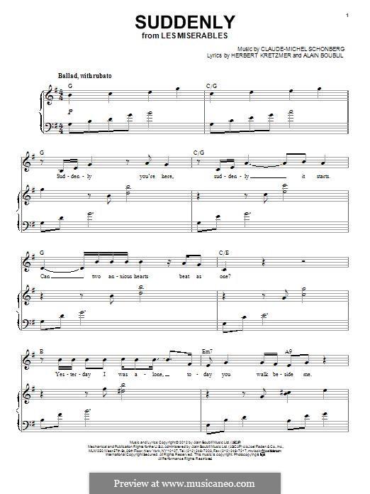 Suddenly: Für Stimme und Klavier by Claude-Michel Schönberg