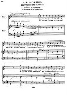 Einundzwanzig Gedichte von Nekrasov, Op.62: Nr.16 Brautwerber und Bräutigam by César Cui