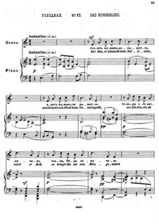 Einundzwanzig Gedichte von Nekrasov, Op.62: Nr.17 Das Hungerlied by César Cui