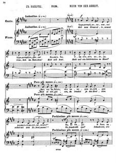 Einundzwanzig Gedichte von Nekrasov, Op.62: Nr.18 Heim von der Arbeit by César Cui