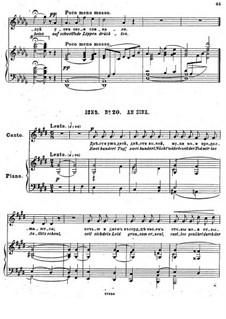 Einundzwanzig Gedichte von Nekrasov, Op.62: Nr.20 An Sina by César Cui