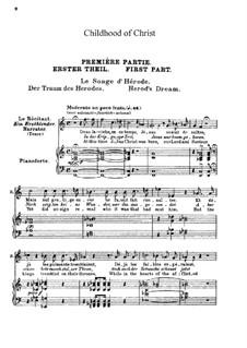 L'enfance du Christ (Die Kindheit Christi), H.130 Op.25: Klavierauszug mit Singstimmen by Hector Berlioz