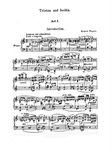 Vollständiger Oper: Klavierauszug mit Singstimmen by Richard Wagner