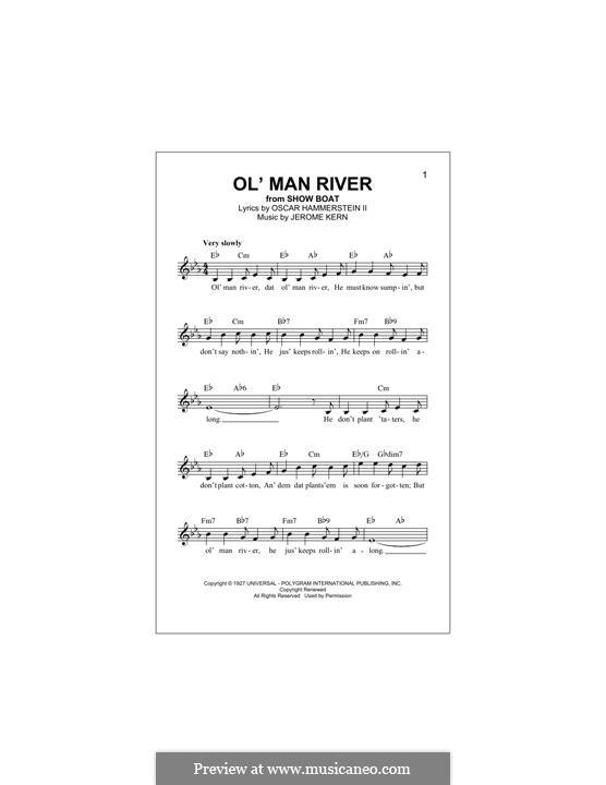 Ol' Man River (from Show Boat): Für Keyboard by Jerome Kern