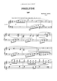 Präludium, M.65: Für Klavier by Maurice Ravel