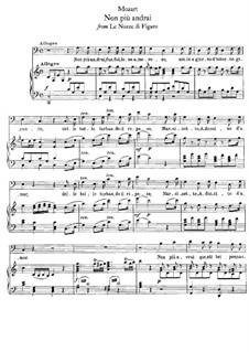Non più andrai (Now no More): Klavierauszug mit Singstimmen by Wolfgang Amadeus Mozart
