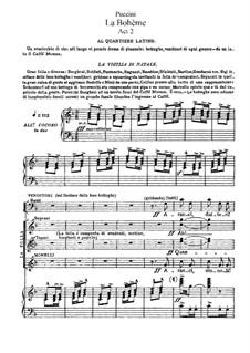 Complete Opera: Akt II, für Solisten, Chor und Klavier by Giacomo Puccini