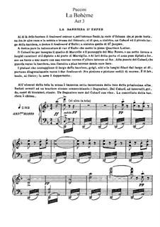 Complete Opera: Akt III, für Solisten, Chor und Klavier by Giacomo Puccini