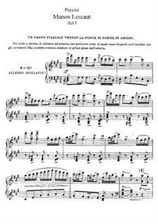 Manon Lescaut : Akt I by Giacomo Puccini