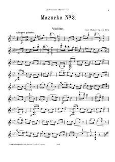 Zwei Mazurkas für Violine und Klavier, Op.45: Nr.2 – Solo Stimme by Jenö Hubay