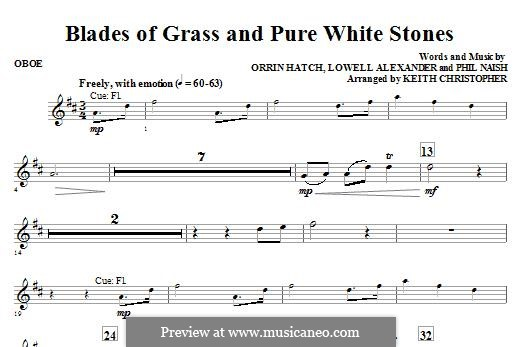Blades of Grass and Pure White Stones: Oboenstimme by Lowell Alexander, Phil Naish, Orrin Hatch
