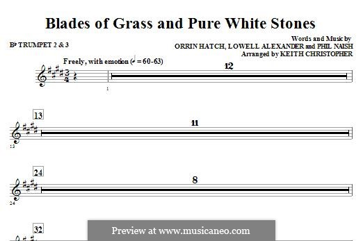 Blades of Grass and Pure White Stones: Bb Trumpet 2,3 part by Lowell Alexander, Phil Naish, Orrin Hatch