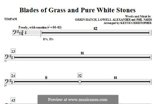 Blades of Grass and Pure White Stones: Paukenstimme by Lowell Alexander, Phil Naish, Orrin Hatch
