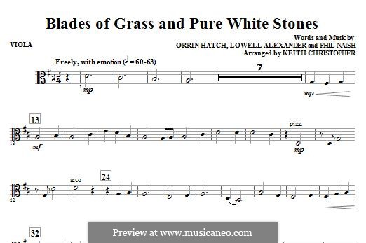 Blades of Grass and Pure White Stones: Violastimme by Lowell Alexander, Phil Naish, Orrin Hatch