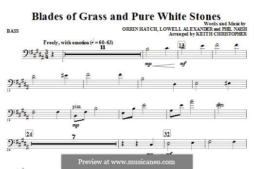 Blades of Grass and Pure White Stones: Bassstimme by Lowell Alexander, Phil Naish, Orrin Hatch