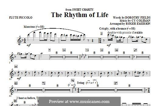 The Rhythm of Life (from Sweet Charity): Flute/Piccolo part by Cy Coleman