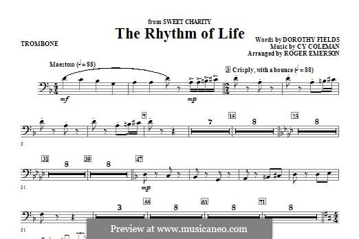 The Rhythm of Life (from Sweet Charity): Posaunenstimme by Cy Coleman
