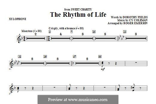 The Rhythm of Life (from Sweet Charity): Xylophone part by Cy Coleman