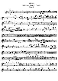 Sinfonico for Four Flutes in D Major, Op.12: Flötenstimme II by Anton Reicha