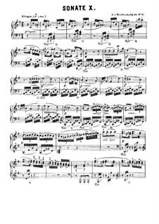 Sonate für Klavier Nr.10, Op.14 No.2: Für einen Interpreten by Ludwig van Beethoven