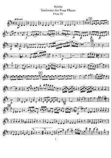 Sinfonico for Four Flutes in D Major, Op.12: Flute IV part by Anton Reicha