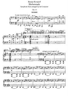 Scheherazade, Op.35: Movements I-II, for piano four hands by Nikolai Rimsky-Korsakov