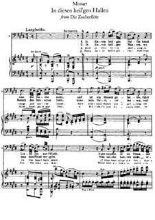 In diesen heil'gen Hallen: Für Stimme und Klavier by Wolfgang Amadeus Mozart