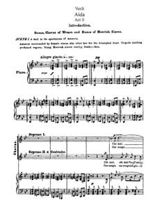 Fragmente: Akt II, für Solisten, Chor und Klavier by Giuseppe Verdi