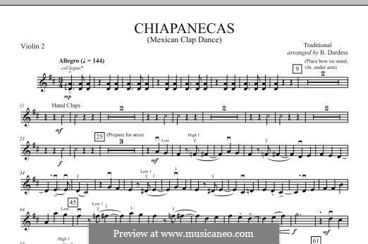 Chiapanecas: Violin 2 part by folklore