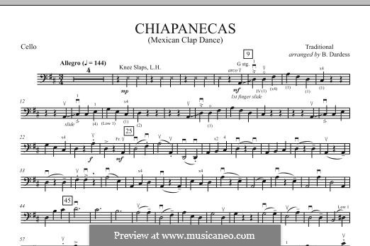 Chiapanecas: Cellostimme by folklore
