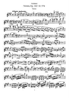 Sonate für Violine und Klavier in A-Dur, D.574 Op.162: Solostimme by Franz Schubert
