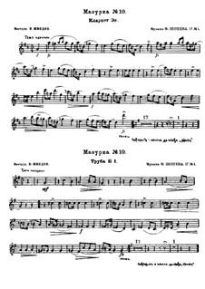 Mazurkas, Op.17: Nr.1 in B-Dur by Frédéric Chopin
