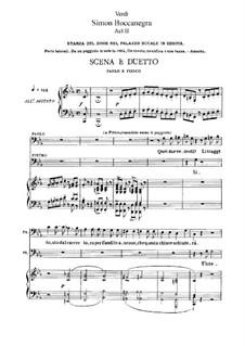 Simon Boccanegra: Akt II, für Solisten, Chor und Klavier by Giuseppe Verdi