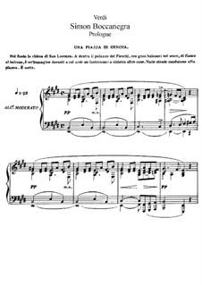 Simon Boccanegra: Prolog, für Solisten, Chor und Klavier by Giuseppe Verdi