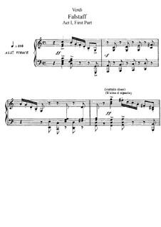 Falstaff: Akt I. Bearbeitung für Solisten, Chor und Klavier by Giuseppe Verdi