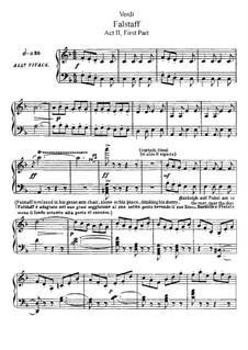 Falstaff: Akt II. Bearbeitung für Solisten, Chor und Klavier by Giuseppe Verdi
