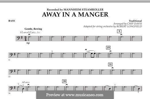 Away in a Manger: Bassstimme by folklore